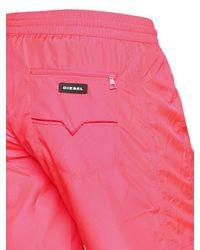 Short De Bain En Nylon Imprimé Néon DIESEL pour homme en coloris Pink