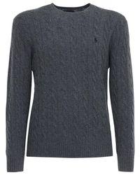 メンズ Polo Ralph Lauren ウール&カシミアニットセーター Gray