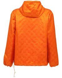 """Gucci Technostoff-jacke """"off The Grid"""" in Orange für Herren"""