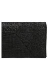 Loewe Black Puzzle Long Horizontal Wallet for men