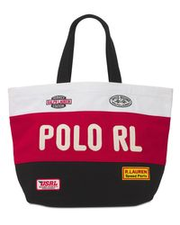 メンズ Polo Ralph Lauren Moto コットンキャンバストートバッグ Red