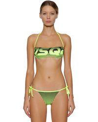 Top Bikini In Lycra di DSquared² in Green