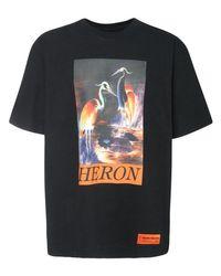 Heron Preston T-shirt Aus Baumwolljersey Mit Heron-druck in Black für Herren