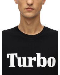 メンズ MSGM Turbo コットンジャージースウェットシャツ Black