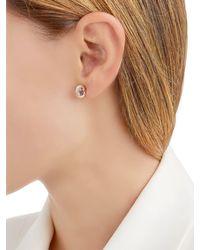 Delfina Delettrez - Metallic Seal Gold Amethyst & Pearl Mono Earring - Lyst