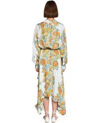 Lanvin Mulberry クレープシャツドレス Multicolor