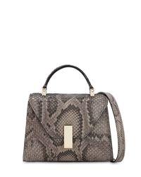 Valextra Gray Mikro Handtasche Aus Schlangenleder
