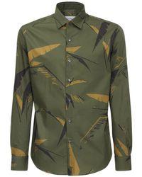 Хлопковая Рубашка С Принтом Ferragamo для него, цвет: Green