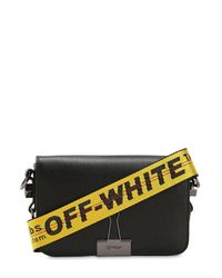 Off-White c/o Virgil Abloh Black Mini Binder Clip Leather Shoulder Bag