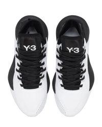"""Baskets En Cuir """" Kaiwa"""" Y-3 en coloris Black"""