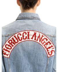 Fiorucci Blue Nico Distressed Denim Trucker Jacket