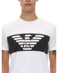 メンズ EA7 Train コットンtシャツ White