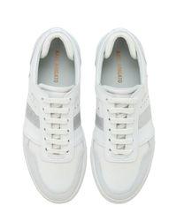 Sneakers De Piel Con Plataforma 30mm Axel Arigato de color White