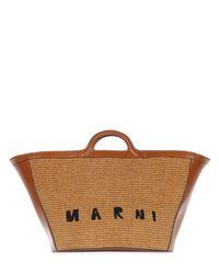 Marni Tropicalia Summer トップハンドルバッグ Brown