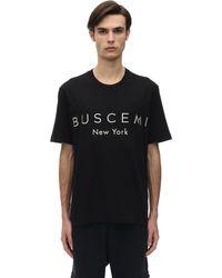 メンズ Buscemi コットンジャージーtシャツ Black
