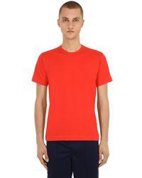 T-shirt En Jersey De Coton Avec Logo Comme des Garçons pour homme en coloris Red
