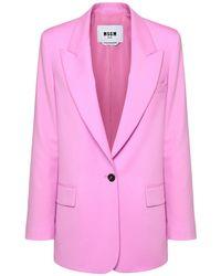 MSGM ウールジャケット Pink