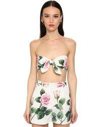 Dolce & Gabbana コットンポプリントップ Multicolor