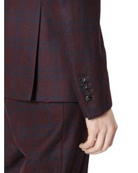 Lords & Fools Multicolor Checked Stretch Flannel Jacket for men