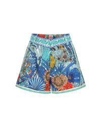 Le Sirenuse コットンショートパンツ Blue