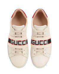 Gucci New Ace 伸縮性バンド レザースニーカー Multicolor