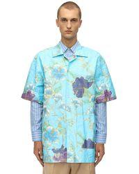 Gucci Hemd Aus Technostoff Mit Papiereffekt in Blue für Herren