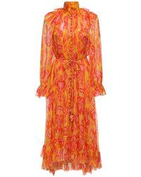 Zimmermann シルクジョーゼットドレス Red