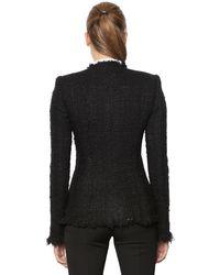 Alexander McQueen - Black Lurex & Wool Blend Tweed Jacket - Lyst