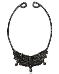 Mariah Rovery Black Colar Rainha Necklace