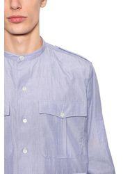 J.W. Anderson - Blue Langes Hemd Aus Baumwolle Mit Taschen Und Streifen for Men - Lyst