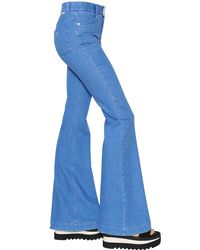 Stella McCartney Blue Flared Cotton Denim Jeans