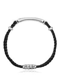 """Bracelet En Argent Et Cuir """"bar Station"""" David Yurman pour homme en coloris Black"""