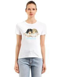 Fiorucci White Vintage Angels Classic Jersey T-shirt