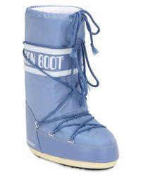 """Moon Boot Blue Wasserdichte Schneestiefel Aus Nylon """"classic"""""""