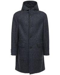 Пальто Из Шерсти И Мохера Z Zegna для него, цвет: Gray