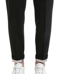 Neil Barrett Black Pantaloni In Gabardina Di Lana Stretch 16.5cm for men