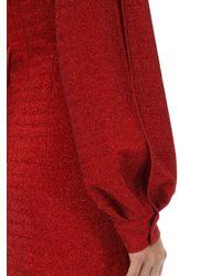 Sara Battaglia Red Minikleid Aus Stretch-lurex
