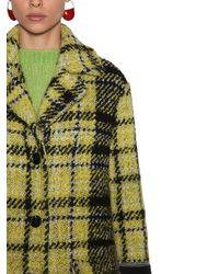 Marni Yellow Tweedmantel Aus Wolle Und Viskose