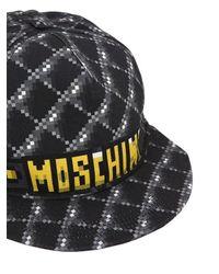 Бейсбольная Кепка С Принтом Moschino, цвет: Gray