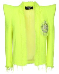 Balmain ツイードジャケット Yellow