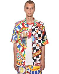 Dolce & Gabbana Oversized Hemd Mit Logodruck in Multicolor für Herren