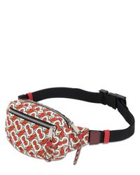 Burberry Cannon TB Belt Bag aus zinnoberrotem Monogram Nylon in Multicolor für Herren