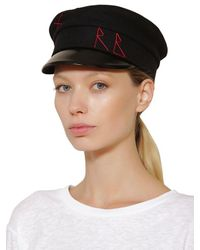 Ruslan Baginskiy Baker Boy ウール帽 Black