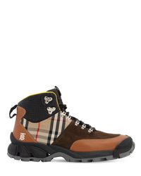"Burberry Hohe Sneakers Aus Leder ""tor M"" in Brown für Herren"
