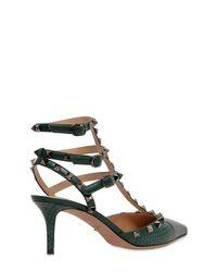Escarpins Garavani Rockstud Valentino en coloris Green