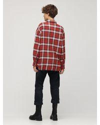 Рубашка Из Фланели С Карманами-карго R13, цвет: Red