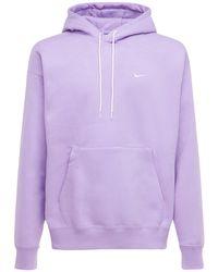 """Nike Hoodie Aus Fleece """"solo Swoosh"""" in Purple für Herren"""