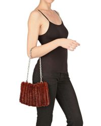 Paco Rabanne | Brown Iconic Knitted Mink Shoulder Bag | Lyst
