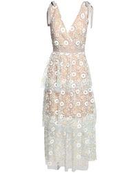 Self-Portrait スパンコールレースドレス White
