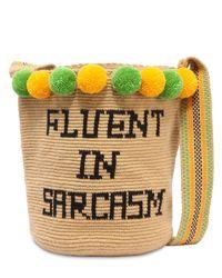 Soraya Hennessy Natural Fluent In Sarcasm Mochila Woven Bag